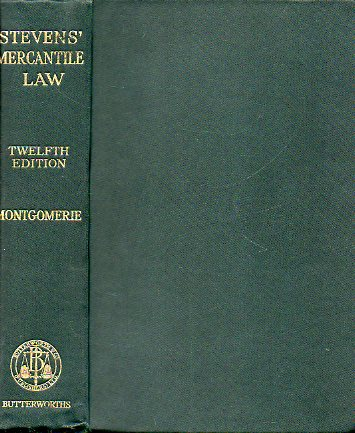 STEVEN´S ELEMENTS OF MERCANTILE LAW. Twelfth Edition.