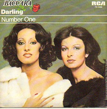 Discos-Singles. BACCARA. A. DARLING. B. NUMBER ONE.
