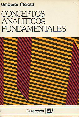 CONCEPTOS ANALÍTICOS FUNDAMENTALES.