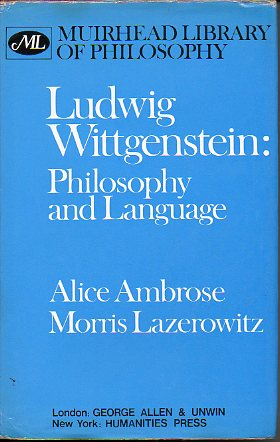 LUDWIG WITTGENSTEIN: PHILOSOPHY AND LANGUAGE.