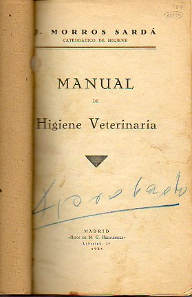 MANUAL DE HIGIENE VETERINARIA.