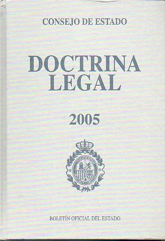 DOCTRINA LEGAL. 2005. Incluye CD.