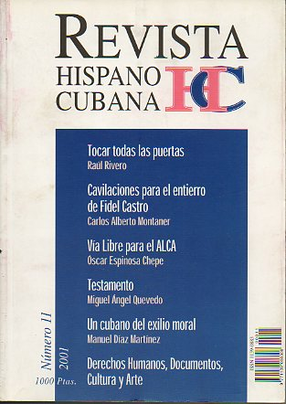 REVISTA HISPANO CUBANA. Nº 11.