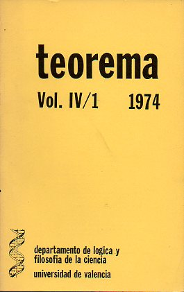 Revista TEOREMA. Vol. IV. Nº 1.