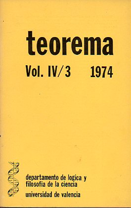 Revista TEOREMA. Vol. IV. Nº 3.