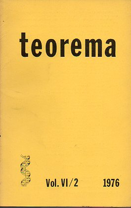 Revista TEOREMA. Vol. VI. Nº 2.