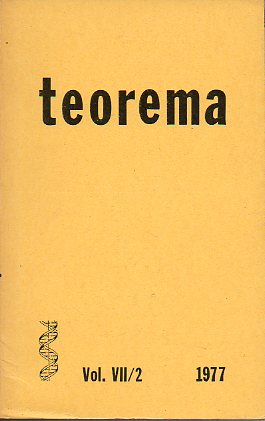 Revista TEOREMA. Vol. VII. Nº 2.