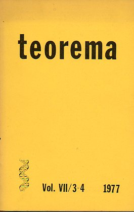 Revista TEOREMA. Vol. VII. Nº 3/4.
