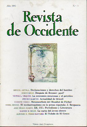 REVISTA DE OCCIDENTE. Nº 11.