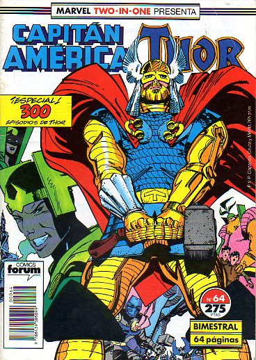 MARVEL TWO IN ONE. Nº 64. CAPITÁN AMÉRICA / THOR.