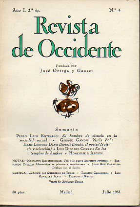 REVISTA DE OCCIDENTE.  Año I. 2ª Época. Nº 4.