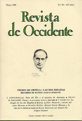 REVISTA DE OCCIDENTE. Nº 60.