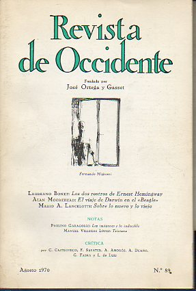 REVISTA DE OCCIDENTE. Nº 89.