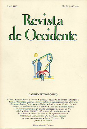 REVISTA DE OCCIDENTE. Nº 71.