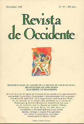 REVISTA DE OCCIDENTE. Nº 91.