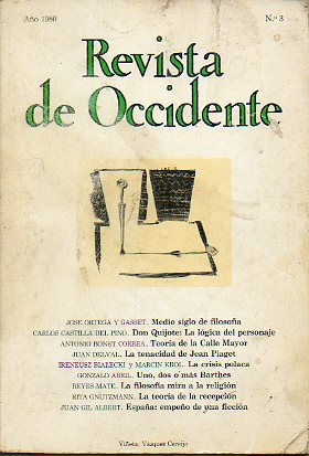 REVISTA DE OCCIDENTE. Nº 3.
