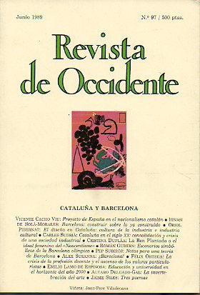 REVISTA DE OCCIDENTE. Nº 97.