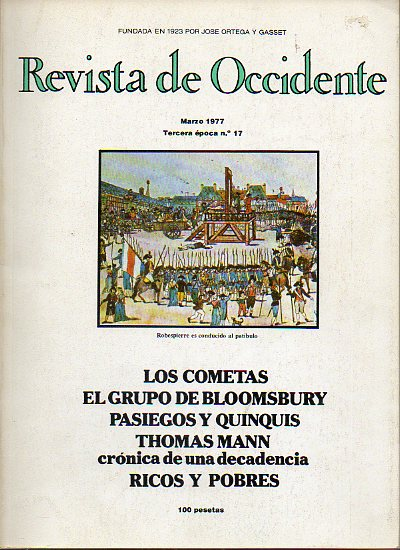 REVISTA DE OCCIDENTE. Tercera Época. Nº 17.
