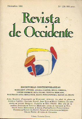 REVISTA DE OCCIDENTE. Nº 139. Escritoras contemporáneas.
