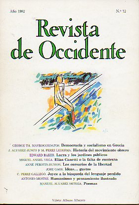 REVISTA DE OCCIDENTE. Nº 12.