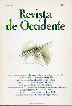 REVISTA DE OCCIDENTE. Nº 9.