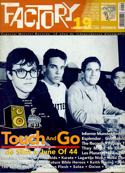 FACTORY. Nº 19. Southern Culture on the Skids, Lagartija Nick, Solex, Onion, Polar, Los Planetas, Steve Wynn. Sin CD.