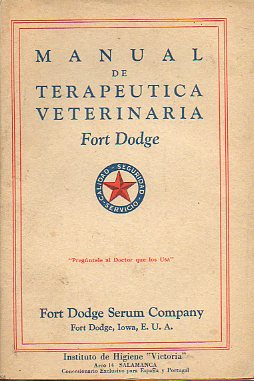 MANUAL DE TERAPÉUTICA VETERINARIA.