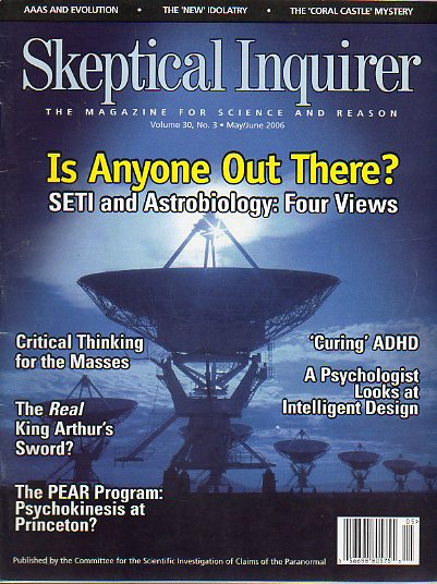 SKEPTICAL INQUIRER. The Magazine for Science and Reason. Vol. 30. Nº 3. SETI and Astrobiology: Four Wiews; Michael Friendlander: Intelligent Design an