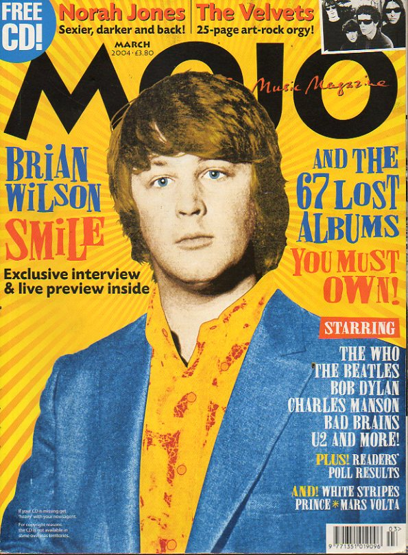 MOJO. Nº 124. Brian Wilson. The Mars Volta. The Velvet Underground: Nico, John Cale. Norah Jones. Andy Warhol: Colour me pop... No conserva CD.