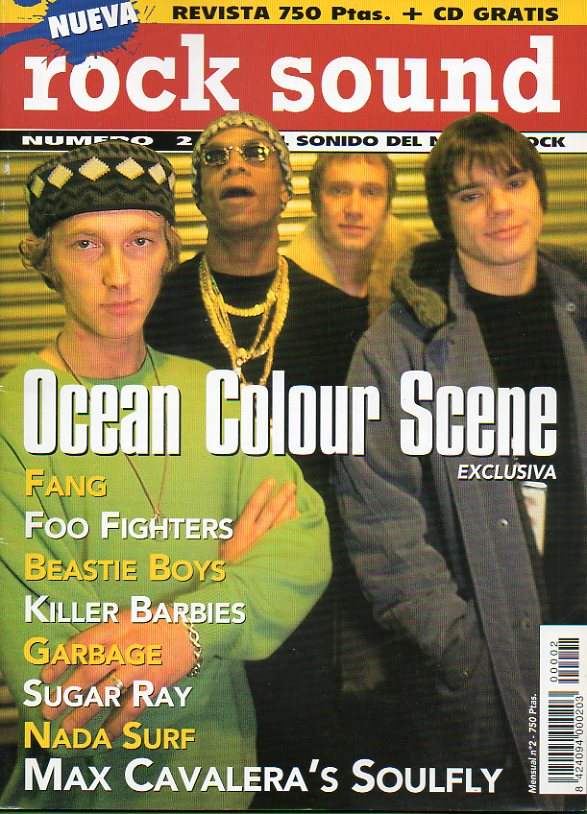 ROCK SOUND. Nº 2. Ocean Colour Scene. Fang. Beastie Boys. Grabage. Sugar Ray. Nada Surf...