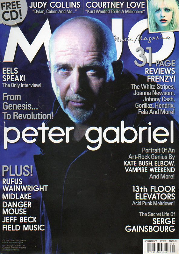 MOJO. Nº 197. From Genesis... To Revolution! Peter Gabriel. Judy Collins. Courtney Love. Rufus Wainwright. Jeffe Beck. Midlake. The secret life of Ser