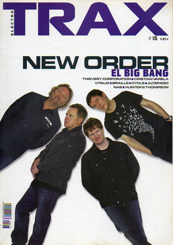 TRAX. Nº 16. New Order. Thievery Corporation. Cristián varela. Vitalic. Braille. Cycle. Alter Ego. Hunter S. Thompson...