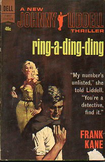A NEW JOHNNY LIDDELL THRILLER. RING-A-DING-DING.