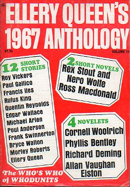 ELLERY QUEEN´S 1967 ANTHOLOGY. Vol. 12.
