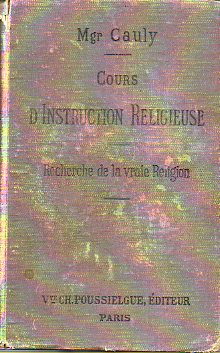 COURS D´INSTRUCTION RELIGIEUSE. 12e éd.
