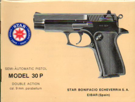 SEMI-AUTOMATIC PISTOL. Model 30 P. Double Action. Cal. 9 mm. Parabellum.