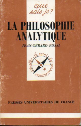 LA PHILOSOPHIE ANALYTIQUE.