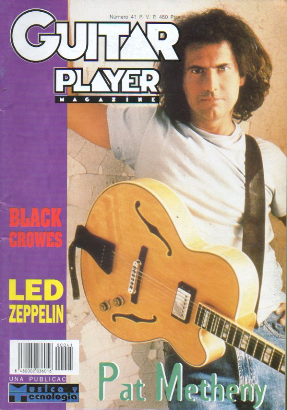 GUITAR PLAYER. Magazine. Nº 41. En portada: Pat Metheny; Dossier: Música y Censura; Led Zepelin; Entrevista con Doran Oster; Black Crowes...
