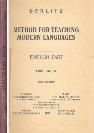 Method for teaching modern languages - English Part - First Book