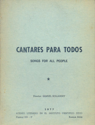 Cantares para Todos Songs for all People