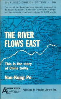 The river flows east