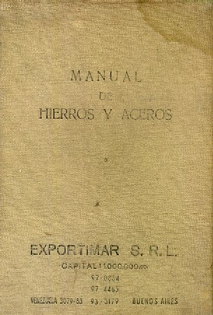 Manual de hierros y aceros