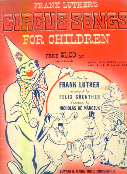 Circus songs for children