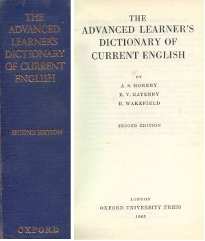 "The advance learner""s dictionary of current english"