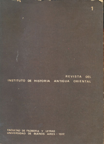 Revista del instituto de historia antigua oriental